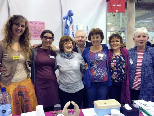 Reiki in the convention of Mind body spirit and yoga in Dublin RDS