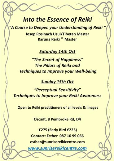 Reiki courses in Dublin
